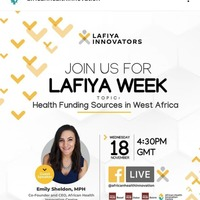 Lafiya Week(Health Funding Sources In West Africa