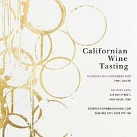 Californian Wine Tasting