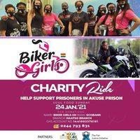 Biker Girls: CHARITY Ride - Akuse Prison