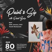Paint & Sip With Paint Boire