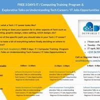 FREE 3 DAYS IT / Computing Training