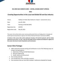 Oil and Gas Career Clinic, Accra - Ghana 2021