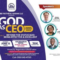 GOD AS CEO BUSINESS/CORPORATE SEMINAR