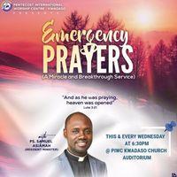 WEDNESDAY EMERGENCY PRAYERS