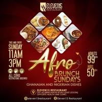 Afro BRUNCH SUNDAYS