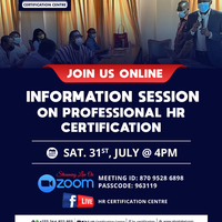 Virtual Information Session on Professional HR Certification