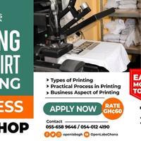 Setting up T-shirt printing