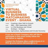 Virtual Business to Business Matchmaking Event -Ghana