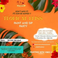 Tropical Bliss: Paint And SIP Party