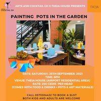 Painting Pots In The Garden